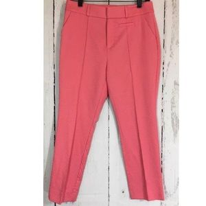 Soft Surroundings Jacquard Coral Cropped Pants
